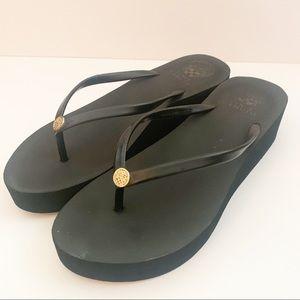 Vince Camuto Black Thong Platform Flip Flop Sandal